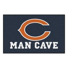 FANMATS NFL - Chicago Bears Man Cave Tailgater Rug Size: 5' x 6'