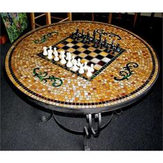 Stained Glass Mosaic table tops | Contemporary Game Table from Mosaica, Model: GT