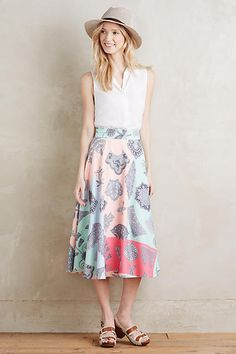 Patisserie Midi Skirt - anthropologie.com