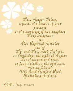 9 Best Wedding Invitation Wording Examples Images Wedding Stuff