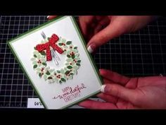 Such a Pretty Wondrous Wreath with How To Video PLUS - Cute Halloween Cards!, Kay Kalthoff is Stamping to Share with Stampin' Up!, Christmas Card