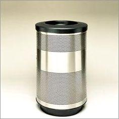 stainless steel trash cans metal trash cans kitchen trash can outdoor indoor trash cans recycle bins ashtrays for commercial office or home - Stainless Steel Kitchen Trash Can