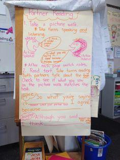 Accountable talk, partner talk, first grade,