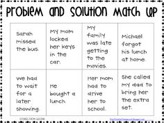 Printables Problem And Solution Worksheets activities the ojays and passage on pinterest