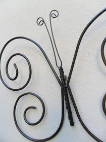 Tienda Deco C: Mariposas de hierro Wire Art, Candle Sconces, Wind Chimes, Diy Gifts, Diy Jewelry, Easy Diy, Wall Lights, Metal, Color