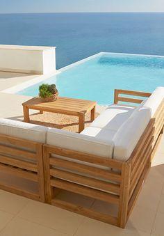 Resultado de imagen de hacer sofa madera exterior palet for Sofa exterior leroy
