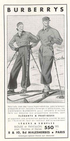 Burberry's Ad ~ 1937