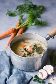 Blanquette de seitan – vegan Seitan Recipes, Vegetarian Recipes, Cooking Recipes, Quinoa, Plat Vegan, Tofu, Tempeh, Food Dishes, Good Food