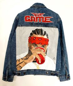 The Game Rapper, Dm Instagram, Unisex Gifts, Dope Outfits, Custom Clothes, Art Work, Raincoat, Denim, Jeans