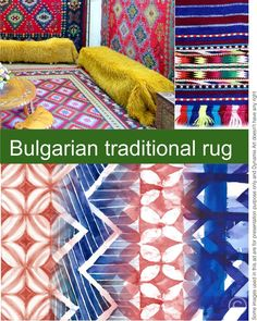 Natural colors and classic shapes inspired by the traditional Bulgarian rugs Natural Colors, Bulgarian, Ukraine, Folk Art, Georgia, Presentation, Fabrics, Shapes, Traditional