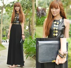 Gold On My Leather (by Camille Co) http://lookbook.nu/look/4521275-Gold-On-My-Leather