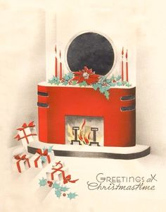 Utterly Art Deco Christmas card.
