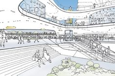 Going Bold Los Angeles' Union Station enters next phase with big ambitions. Architecture Drawings, Landscape Architecture, Landscape Design, Architecture Design, Architecture Graphics, Conceptual Sketches, Urban Design Concept, Schematic Design, Mall Design