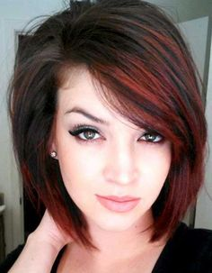 Black Hair With Red Highlights For Girls                                                                                                                                                                                 More