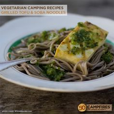 Grilled Tofu & Soba Noodles - Plus the 10 Best Vegetarian Recipes for Camping http://50campfires.com/10-easy-vegetarian-recipes/ #camping #recipes #vegetarian