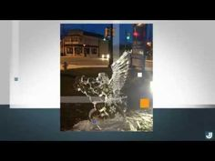 Ice Sculpture at Spirit of Christmas, Ridgeway ON, at D. W. Howard Realty Office - YouTube