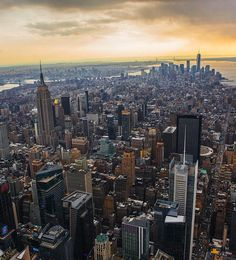 NYC. View from Midtown Manhattan, facing toward Lower Manhattan