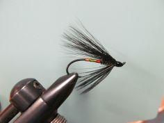 #4 hair wing Salmon Steelhead Flies Black Dose