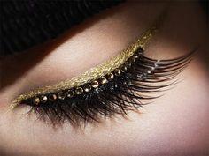 Gold bling liner