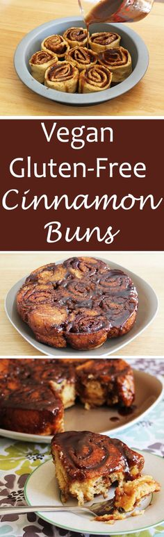 Mouthwatering, fluffy, gluten-free, vegan cinnamon buns.