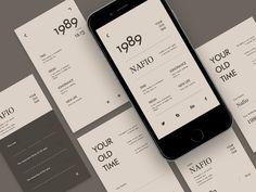 App time old interface app Mobile Ui Design, App Ui Design, Interface Design, Interface App, Flat Design, Design Design, Minimal Web Design, Website Design Inspiration, Wireframe