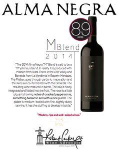 #AlmaNegra M Blend 2014 - 89 points - Robert Parker's Wine Advocate