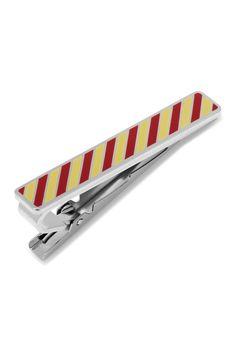 Varsity Stripes Garnet and Gold Tie Clip