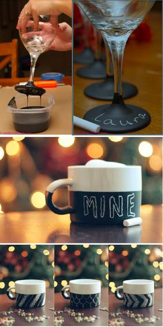 chalkboard paint: this cup is  mine