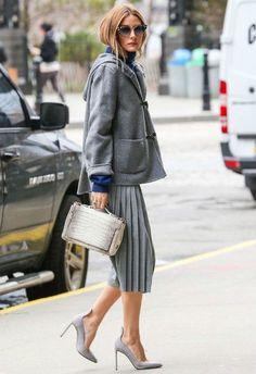 ライトグレーのプリーツサルエル♡サルエルパンツのコーデ☆スタイル・ファッションの参考に♪