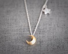 Hey, I found this really awesome Etsy listing at http://www.etsy.com/listing/123956267/modern-moon-and-shiny-star-necklace