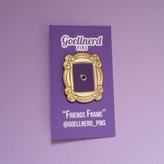 Friends Frame Enamel Pin by Goellnerd on Etsy https://www.etsy.com/listing/279409278/friends-frame-enamel-pin