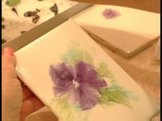How to Paint Porcelain : Painting Background Colors onto a Porcelain Painting 3
