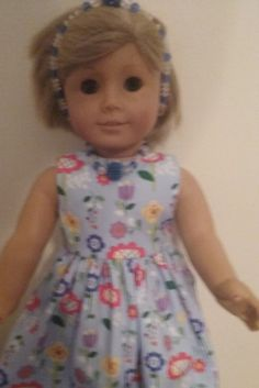 sundress , necklace, headband and shoes for american girl 18 inch doll. by Lindassewncreations on Etsy