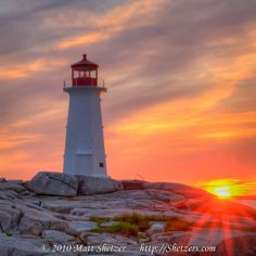 Peggy's Cove Lighthouse - one of the most photographed lighthouses in Canada
