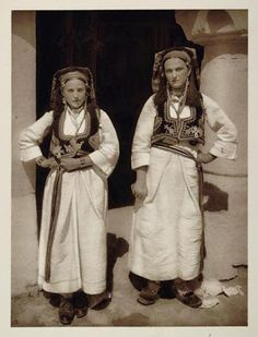Orthodox women around Sarajevo in regional  clothing.