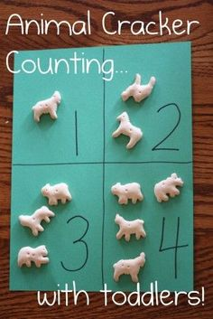 Cracker Counting and One-to-One Correspondence Practice Perfect for toddlers! Animal Cracker Counting and One to One Correspondence PracticePerfect for toddlers! Animal Cracker Counting and One to One Correspondence Practice Toddler Fun, Toddler Crafts, Crafts For Kids, Educational Crafts For Toddlers, Counting For Toddlers, Counting Games, Skip Counting, Toddler Games, Easy Crafts