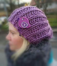 Inspirace #inspiration #winter #kniting #women #brooch #cap