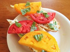 Tomato and Goat Cheese Sandwich