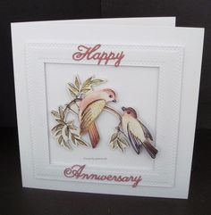 Anniversary I Card, Wedding Cards, Anniversary, Frame, Happy, Projects, Crafts, Decor, Wedding Ecards