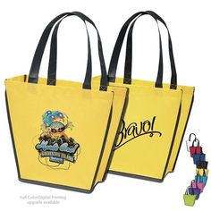 NEW Customized Carnival NonWoven Tote Bag #promoproducts #logo #bags #advertising # Promotional Tote Bags | Custom Logo Carnival NonWoven Tote Bag