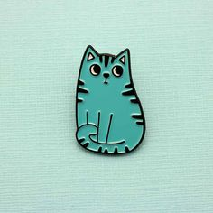 Blue Cat Enamel Pin from Punky Pins was £7 now £4.90