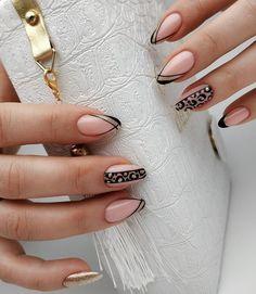 Crazy Nail Designs, Beautiful Nail Designs, Nail Art Designs, Get Nails, Dope Nails, Hair And Nails, Almond Acrylic Nails, Cute Acrylic Nails, Semi Permanente