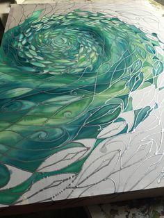 new piece I'm working on hand painted silk original! www.meikiedesigns.com https://www.facebook.com/meikiedesigns?ref=hl