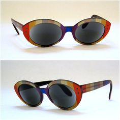 Vintage 60s Candy Striped Ray Ban Bewitching Sunglasses