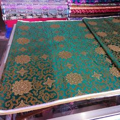 #green #gold #brocade #hangzhou #silk