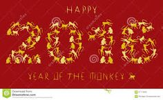 Illustration about Greeting card for year of the monkey in the Chinese zodiac. Illustration of greeting, zodiac, year - 57714393 Year Of The Monkey, Chinese New Year, Greeting Cards, Chinese Zodiac, Stock Photos, Monkeys, Illustration, Image, Chinese New Years