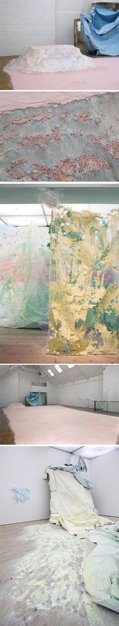 Karla Black's work  http://www.modernart.net/view.html?id=1,3,508
