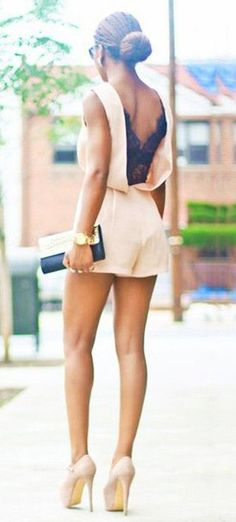 V-Back Lace Romper-Apricot First Date Outfits, Summer Outfits, Cute Outfits, Look Fashion, Fashion Beauty, Luxury Dress, Lace Romper, Passion For Fashion, Spring Summer Fashion