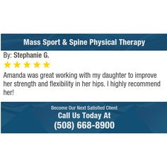 Amanda was great working with my daughter to improve her strength and flexibility in her...