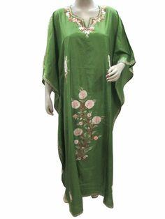 Moroccan Kaftans Parrot Green Kashmir Crewel Embroidered Caftans Abaya Mogul Interior,http://www.amazon.com/dp/B00H94NVCY/ref=cm_sw_r_pi_dp_BCpVsb1A4QX2K6ZG